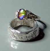Valuable Originals - SOLD - Ammolite Sterling Silver Ring by Robin Copper