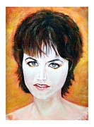 Dolores Framed Prints - SOLD Dolores O Riordan Cranberries Framed Print by Liam O Conaire