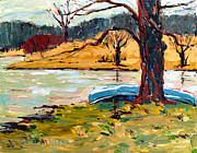Plein Air Originals - Sold Donnie Myers Pond by Charlie Spear