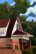 On Paper Painting Originals - SOLD E.Hoppers Camper by Charlie Spear