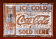 Old Sign Prints - Sold Here Print by Karol  Livote