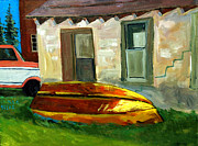 Plein Air Art - SOLD Iron Boat by Charlie Spear