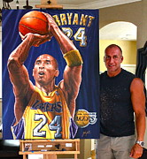Www.sportsartworldwide.com  Paintings - SOLD KOBE ORIGINAL PAINTING but have  limited edition  10 canvas prints for sale by Sports Art World Wide John Prince