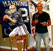 Www.sportsartworldwide.com  Paintings - Sold Peyton Manning Original Painting 48 X 36 Inch by Sports Art World Wide John Prince