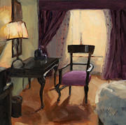 Desk Paintings - SOLD - Room Service  by Nancy  Parsons