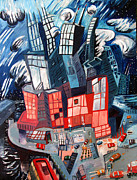 Skyscrapers. Painting Posters - Sold   The Big Poster by Charlie Spear