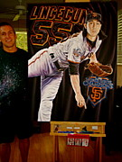 Autographed Paintings - SOLD TIM LINCECUM ORIGINAL PAINTING BUT limited edition 1 of 10 giclee canvas prints for sale  by Sports Art World Wide John Prince