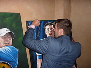 Tim Tebow Paintings - SOLD Tim signing Gator ORIGINAL  by Sports Art World Wide John Prince