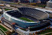 Thomas Woolworth Prints - Soldier Field Chicago Sports 06 Print by Thomas Woolworth