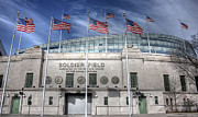 Chicago Bears Framed Prints - Soldier Field Framed Print by David Bearden