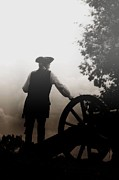 Historical Re-enactments Prints - Soldier in Fog Print by Rhonda Kretzer