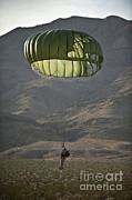 Featured Art - Soldier Prepares To Land by Stocktrek Images