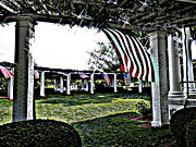 Arlington Virginia Digital Art Prints - Soldiers at Peace - Arlington Print by Angela Hodges Clay