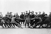 1918 Art - Soldiers Have Tug Of War by Underwood Archives