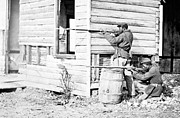 Colored Troops Photos - Soldiers of the Colored Troops pose at Dutch Gap VA 1864 by David Call
