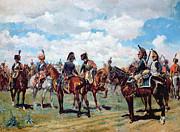 Soldiers On Horseback Print by Jean-Louis Ernest Meissonier