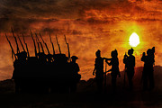 Great Britain Digital Art - Soldiers Return Into the Sunset by Randy Steele