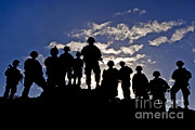 Featured Art - Soldiers Watch Troop Movements At Fort by Stocktrek Images