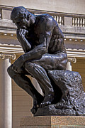 Rodin Prints - Solemn Thinker Print by Garry Gay