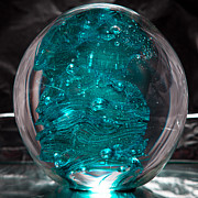 Bubbles Glass Art - Solid Glass Sculpture RB1 by David Patterson