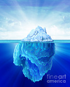 Awe Digital Art - Solitary Iceberg In The Sea by Leonello Calvetti