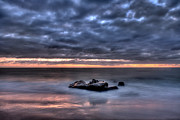 High Dynamic Range Photos - Solitary Rock by Peter Tellone