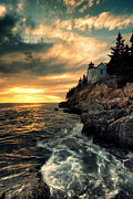 Maine Lighthouses Photo Prints - Solitude Print by Chad Tracy