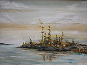 Pallet Knife Painting Originals - Solitude I by Steve Knapp