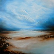 Abstracted Landscape Paintings - Solitude by Simon Kenny