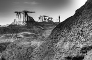 Badlands Photos - Solitude Speaks In The Bisti De-Na-Zin Wilderness by Bob Christopher