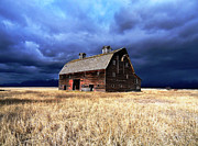 Old Barns Metal Prints - Solitude Standing Metal Print by Glenn Barclay