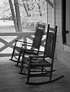 Rocking Chairs Framed Prints - Solo Framed Print by John Cardamone