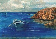 Rowboat Originals - Solo Rowboat Rocks II by Jose Breaux