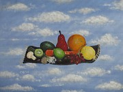 Kiwi Painting Originals - Solomons Flying Feast by Christina Glaser
