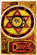 Religious Drawings Digital Art - Solomons Seal by Michael Lee