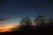 Crescent Moon Photos - Solstice Moon by Bill  Wakeley