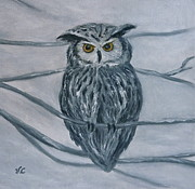 Solstice Owl Print by Victoria Lakes