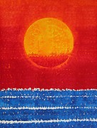 Printmaking Prints - Solstice Sunrise original painting SOLD Print by Sol Luckman