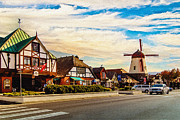 Tourism Digital Art Originals - Solvang California by Nadine and Bob Johnston