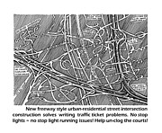 Traffic Control Drawings Metal Prints - Solving Red Light Running Issues Metal Print by Jack Pumphrey