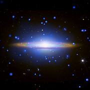 X-ray Image Art - Sombrero Galaxy by Nasa