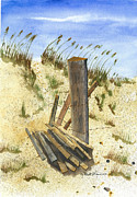 Sand Dunes Painting Framed Prints - Some Beach Framed Print by Robert Havens