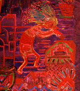 Icon Mixed Media Posters - Some Like Kokopelli Hot Poster by Anne-Elizabeth Whiteway