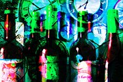 Wine-bottle Digital Art Prints - Some Things Get Better With Time p138 Print by Wingsdomain Art and Photography