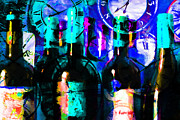 Wine-bottle Digital Art Prints - Some Things Get Better With Time p180 Print by Wingsdomain Art and Photography