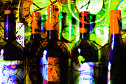 Wine-bottle Digital Art Prints - Some Things Get Better With Time p28 Print by Wingsdomain Art and Photography