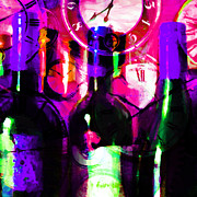 Wine-bottle Digital Art Prints - Some Things Get Better With Time - Square m88 Print by Wingsdomain Art and Photography
