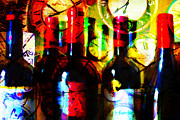 Wine-bottle Digital Art Prints - Some Things Get Better With Time Print by Wingsdomain Art and Photography