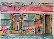 Bistro Paintings - Someplace French by Elaine Duras