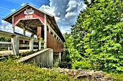 Covered Bridge Prints - Somerset Glessner Bridge Print by Adam Jewell